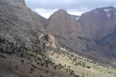 Taghia - Neige + vue Oujdad depuis le col